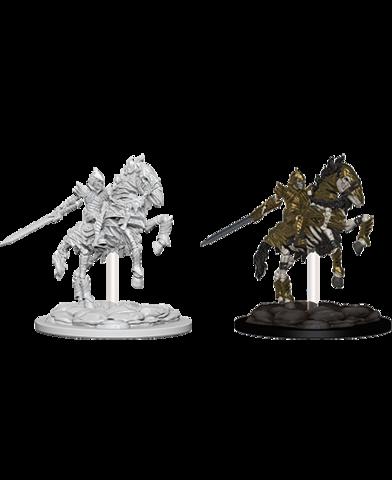 Deep Cuts Unpainted Miniatures: Skeleton Knight on Hourse