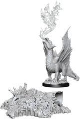 Dungeons & Dragons Nolzur`s Marvelous Unpainted Miniatures  W11 Gold Dragon Wyrmling & Small Treasure Pile