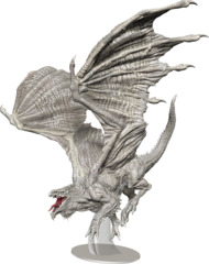 Dungeons & Dragons Fantasy Miniatures: Icons of the Realms - Adult White Dragon Premium Figure
