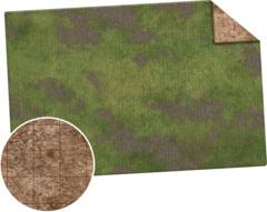 Monster Game Mat: 6x4 - Broken Grassland / Desert Scrubland ( None gridded )
