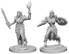 Pathfinder Battles Unpainted Minis - Elf Female Fighter