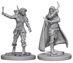 Pathfinder Battles Unpainted Minis - Human Female Rouge