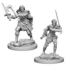 Nolzur's Marvelous Unpainted Miniatures - Human Barbarian (Female)