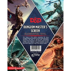 5th Edition Dungeon Master's Screen - elemental Evil