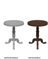Wizkids Unpainted Mini - Small Round Tables