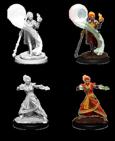 D&D Nolzura Unpainted Minis: Fire Genasi Wizard Female
