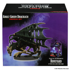 Dungeons & Dragons Icons of the Realms: Set 18 Boneyard Premium - Green Dracolich