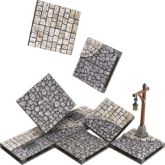 WarLock Tiles: Town & Village - Town Square