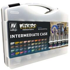 Vallejo 80261 Wizkids Intermediate Case Acrylic Paint Set (40 Colour Set)