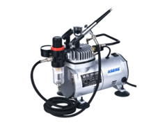 HSENG HS-AS18K-2 AIR COMPRESSOR KIT INCL. HOSE and HS-30 AIRBRUSH