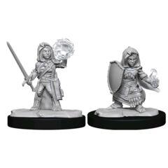 Pathfinder Deepcuts Unpainted Miniatures Halfling Cleric Female