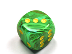 Vortex® 30mm w/pips Slime/yellow d6