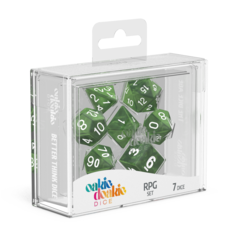 Oakie Doakie Dice RPG Set Marble - Green (7)