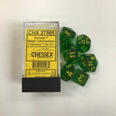 Borealis Polyhedral Maple Green/Yellow Set 7  27565
