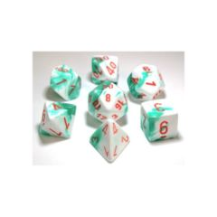 Gemini Mint Green-White with Orange 7-Die Set 30020