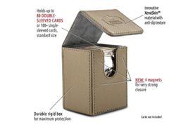 Flip Deck Case 80+ Standard Size XenoSkin Sand Deck Box