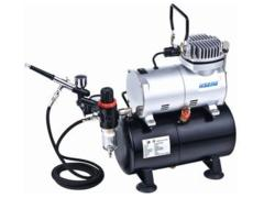 Hseng HS-AS186K Air Compressor with Holding Tank Kit (Includes Hose & HS-80 Airbrush)