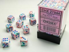Festive® 12mm d6 Pop Art™/blue Dice Block™ (36 dice) 27944