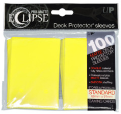 Deck Protector - Ultra Pro - Pro Matte Eclipse Sleeves - Lemon Yellow 100ct