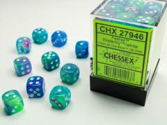 Festive® 12mm d6 Waterlily™/white Dice Block™ (36 dice) 27946