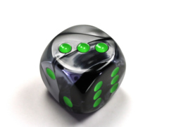 Gemini® 30mm w/pips Black-Grey/green d6 DG3045