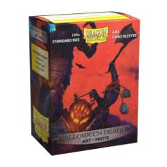 Dragon Shield - Box 100 - MATTE Art - Halloween Dragon
