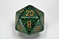 Speckled 34mm Golden Recon™ d20  XS2002