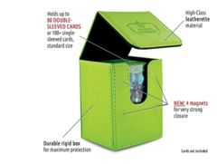 Flip Deck Case 80+ Standard Size Green Deck Box