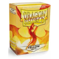 Dragon Shield Box of 100 in Matte Yellow