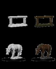 Deep Cuts Unpainted Miniatures Horse & Hitch