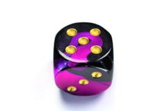 Gemini® 50mm w/pips Black-Purple/gold d6 DG5040