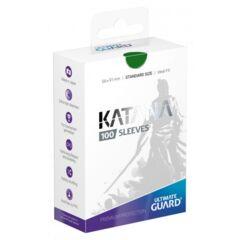 Ultimate Guard Katana Standard Size Sleeves Green