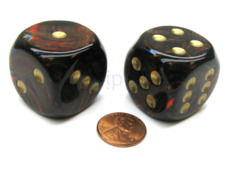 30mm D6 Assorted Colours - Big Dice