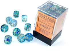 Nebula® 12mm d6 Oceanic™/gold Luminary™ Dice Block™ (36 dice)  27956