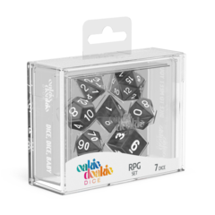 Oakie Doakie Dice RPG Set Marble - Black (7)