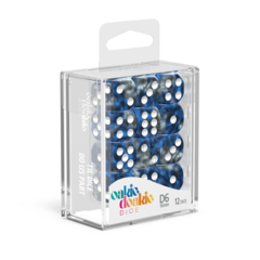 Oakie Doakie Dice D6 16 mm GemiDice - Liquid Steel (12)