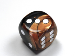 Gemini® 30mm w/pips Black-Copper/white d6  DG3027