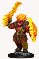 Wardlings Painted Miniatures Fire Orc and Fire Centipede