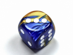 Gemini® 30mm w/pips Blue-Gold/white d6 DG3022