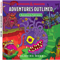 D&D Adventures Outlined 5th Edition Coloring Book Monster Manual