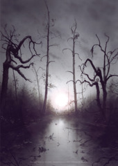 Unhinged Swamp A1 Art Print
