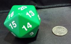 Super Jumbo 55mm D20 Countdown Die - Green