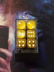 The Games Cube Dice - Gold and white