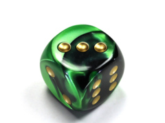 Gemini® 30mm w/pips Black-Green/gold d6  DG3039