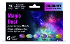 Vallejo 77090 Eccentric Colorshift Magic Dust (6 Colour Set) Acrylic Airbrush Paint