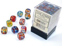 Nebula® 12mm d6 Primary™/blue Luminary™ Dice Block™ (36 dice)  27959