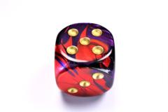 Gemini® 50mm w/pips Purple-Red/gold d6 DG5026