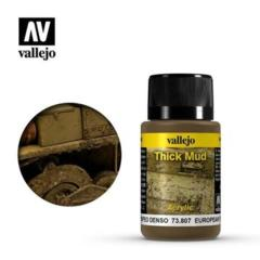 Vallejo 73807 Weathering Effects European Thick Mud 40 ml
