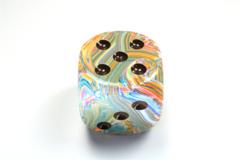 Festive® 50mm w/pips Vibrant/brown d6 DF5061