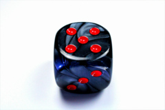 Velvet® 50mm w/pips Black/red d6 DL5028